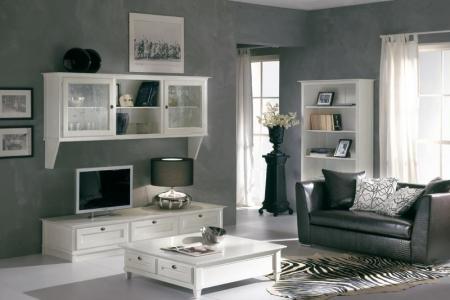soggiorno laccato bianco