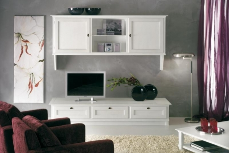 porta tv laccato bianco