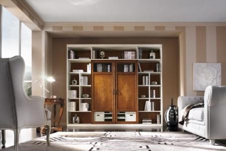 soggiorno  con porte intarsiate
