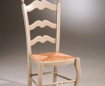 sedia con fondino in paglia