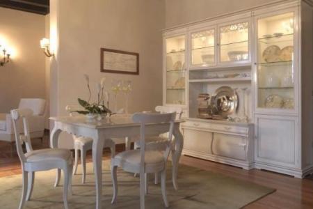 soggiorno sagomato laccato bianco