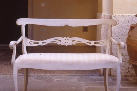 divanetto 2 porti bianco