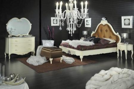 camera matrimoniale con letto capitonne