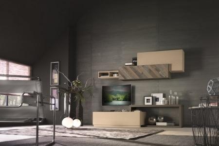 soggiorno moderno legno naturale