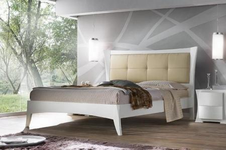 letto  moderno in fassino spazzolato