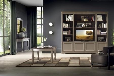 soggiorno con libreri porta tv