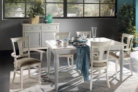 tavolo laccato bianco con piano laccato panna