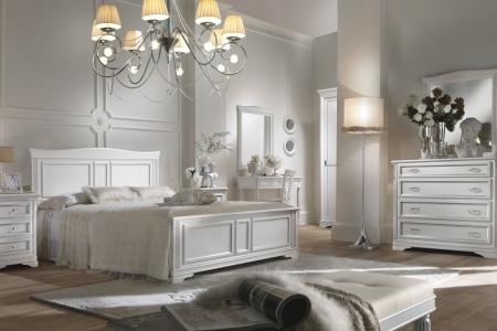 camera laccato bianco