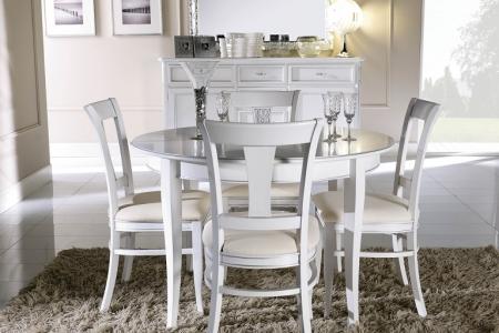 soggiorno bianco e argento