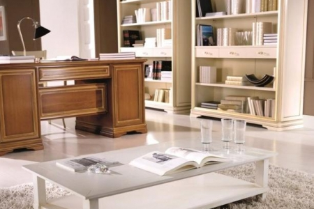 tavolino laccato bianco