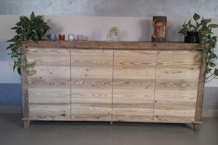 madia moderna in legno antico