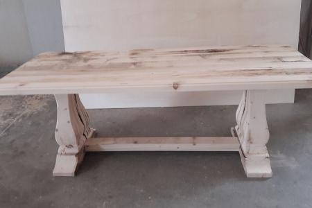 tavolo moderno-rustico