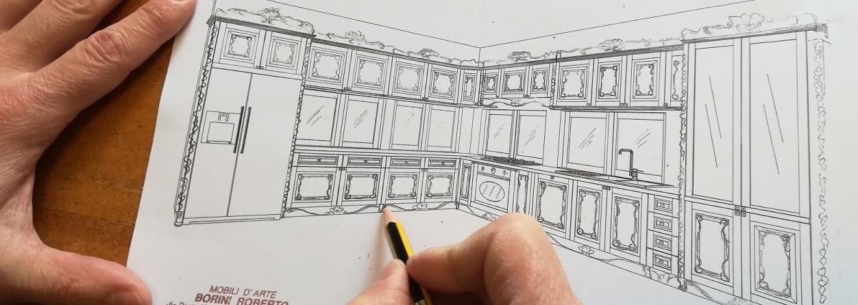 Roberto Borini progetta mobili su misura